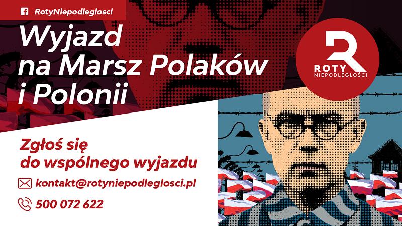 """Wspólny wyjazd na """"Marsz Polaków i Polonii"""" w Oświęcimiu"""