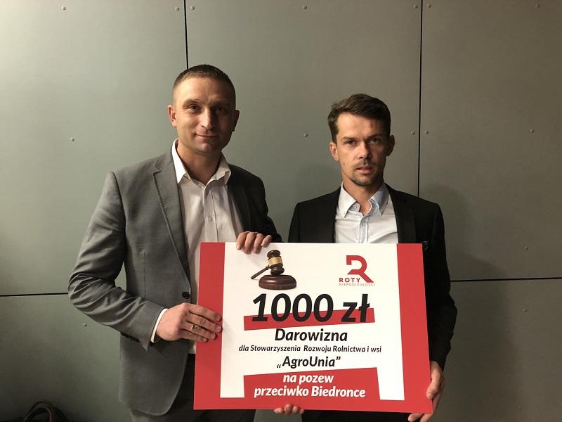 Roty Niepodległości wspierają AgroUnie w walce z Biedronką