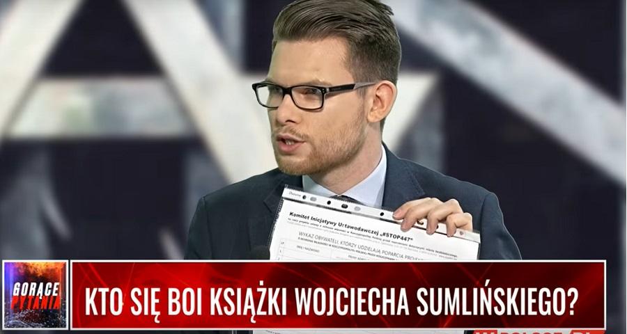Kalinowski: Sumliński uderza w źródło narracji o Polakach jako współsprawcach Holocaustu