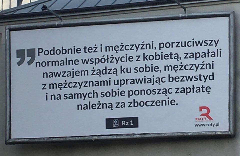 Akcja billboardowa: STOP nachalnej ideologii LGBT