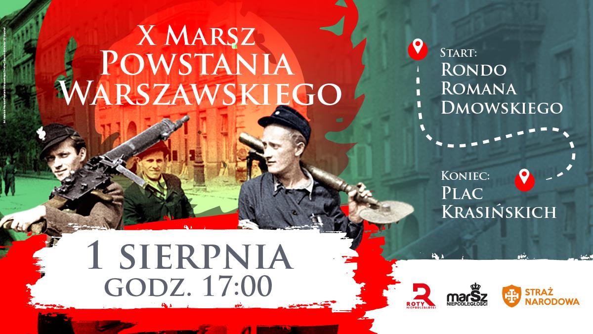 Zapraszamy na Marsz Powstania Warszawskiego